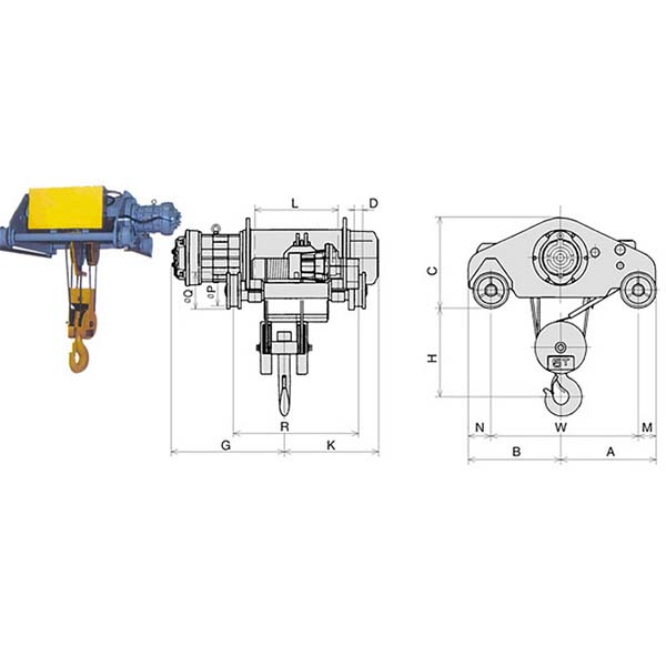 Palang cáp điện loại 1 tốc độ thường và loại 2 cấp độ