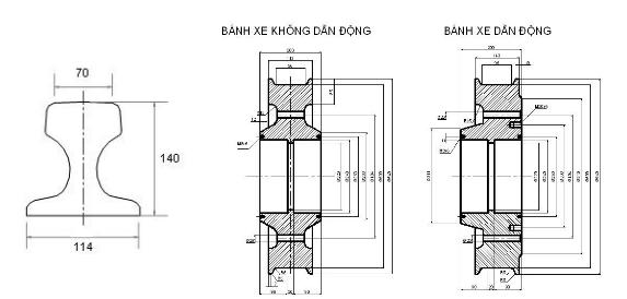 Giới thiệu cơ cấu thiết kế và di chuyển của cổng trục
