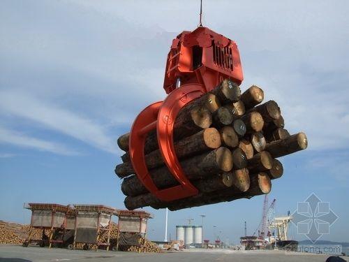 gầu ngoạm gỗ