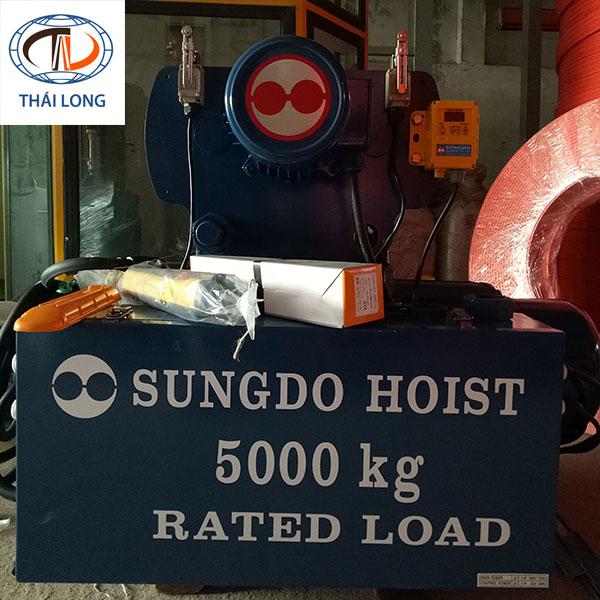 Palang 5 tấn cáp điện Sungdo