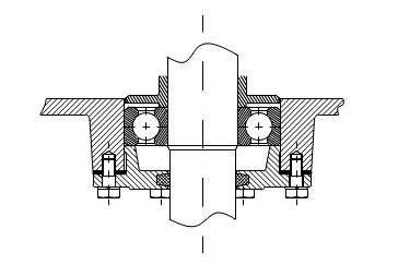 Vỏ hộp palang và việc cố định ở trên trục