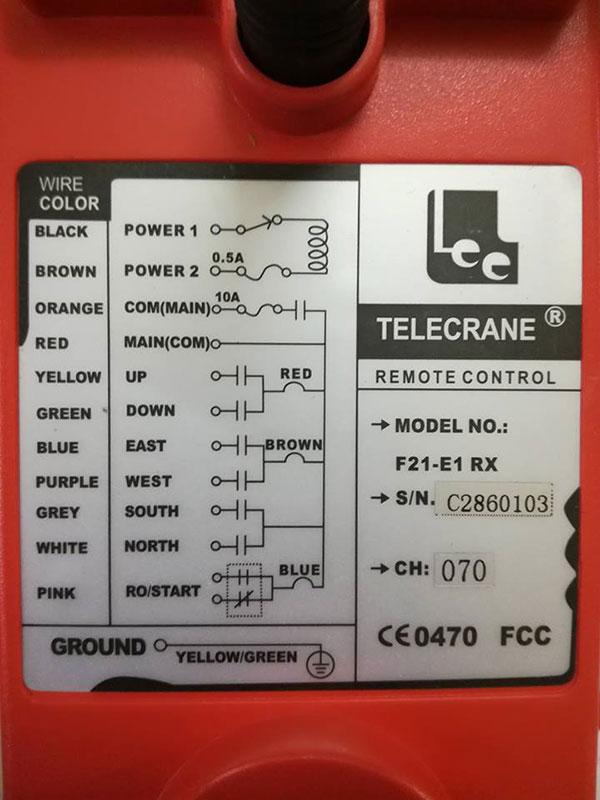 Hướng dẫn lắp điều khiển cầu trục Telecrane F21 E1 3