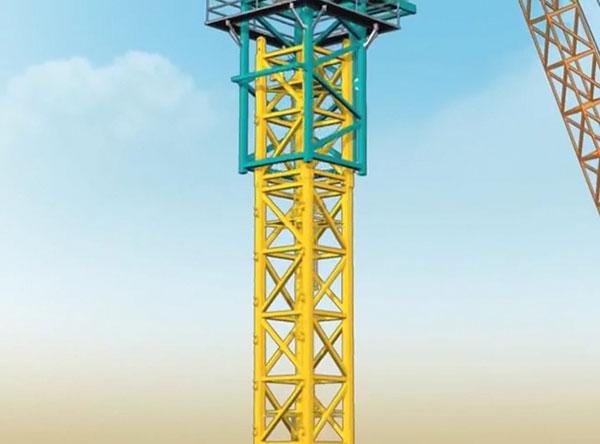 Lồng nâng (telescope) được lồng vào thân cẩu tháp