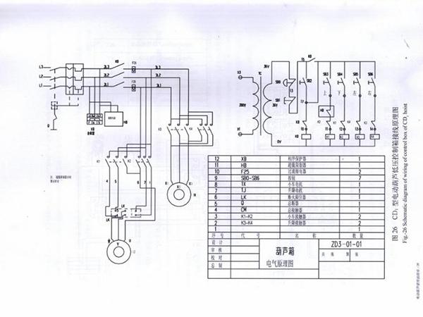 Sơ đồ nguyên lý Palang cáp điện trung quốc CD1