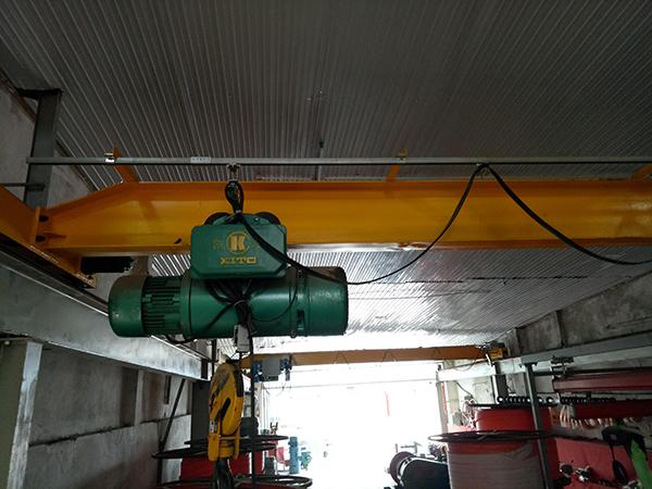 Hệ thống điện máng C lắp cầu trục dầm đơn 3 tấn