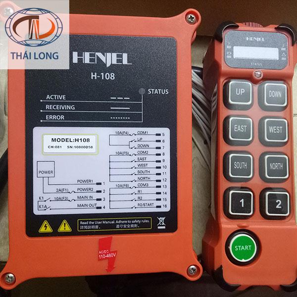 Điều khiển cầu trục từ xa Henjel H-108 2
