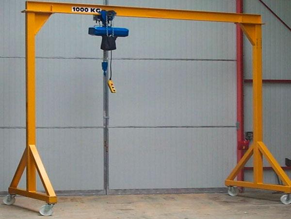 Cổng trục đẩy tay 1 tấn