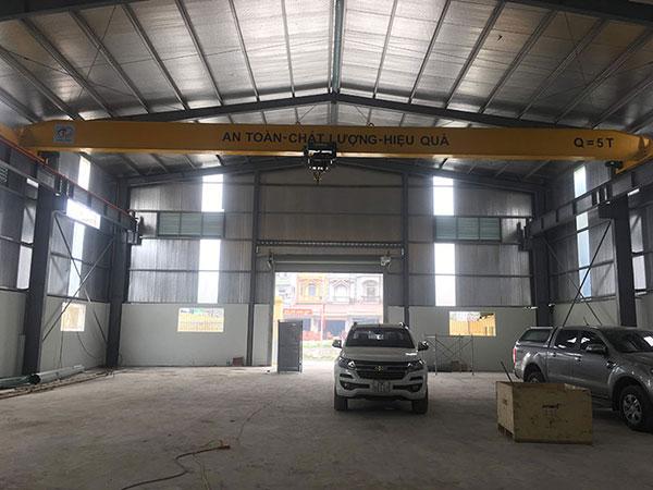 cầu trục 5 tấn khẩu độ 18m ở Hà Nội