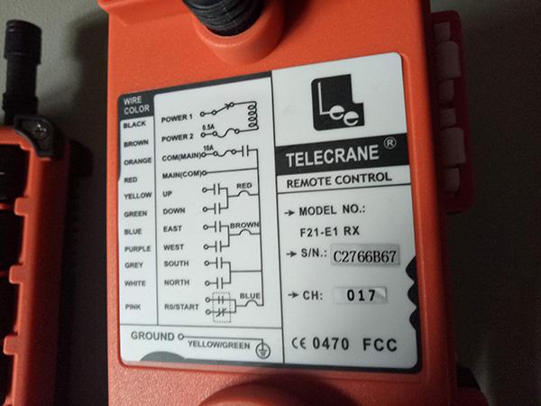 điều khiển cầu trục telecrane F21-E1 3