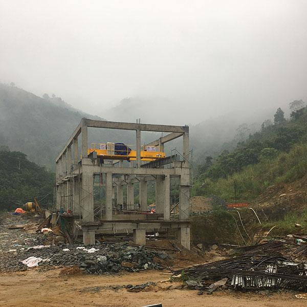 cầu trục 20 tấn lắp đặt hoàn thiện