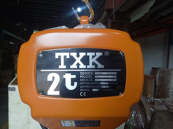 Palang xích điện TXK 2 tấn1