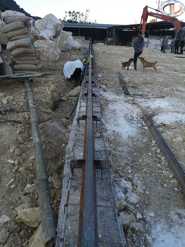 Đường chạy cổng trục 16 tấn