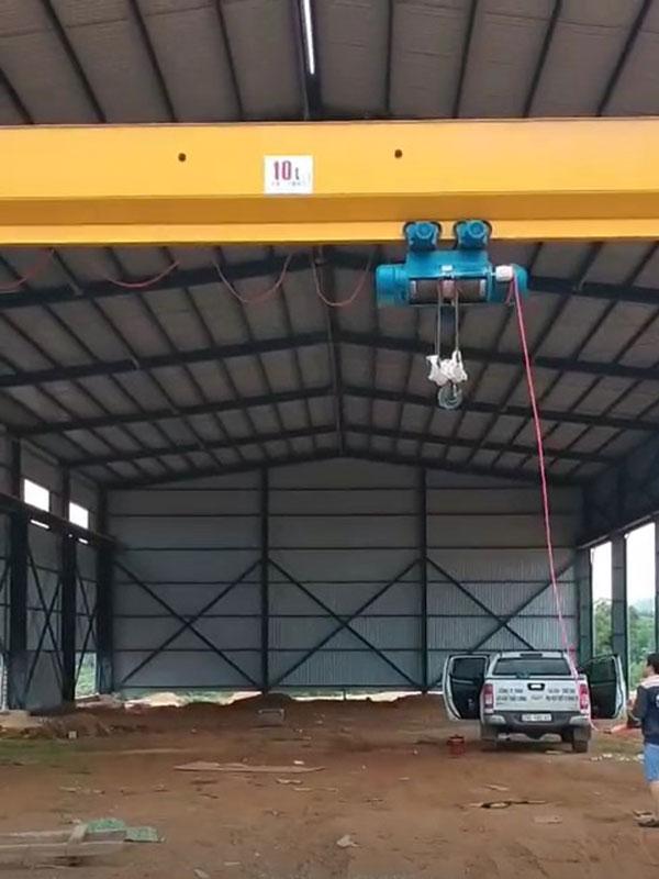 cầu trục 10 tấn đầm đơn