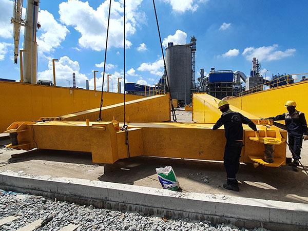 lắp đặt cổng trục 20 tấn 1