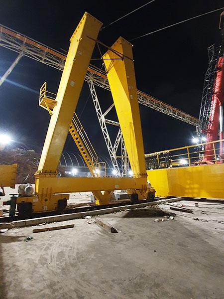 lắp đặt cổng trục 20 tấn 2